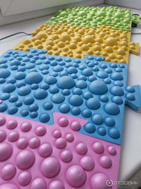 Массажный коврик для детей своими руками - как сделать ортопедическую дорожку для ног (с фото)