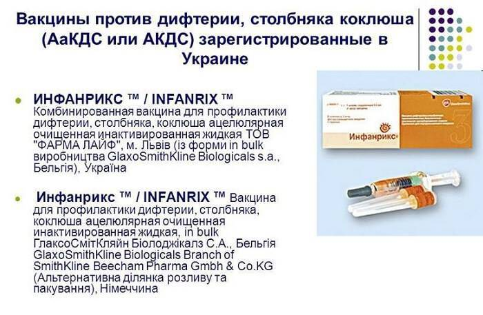 Виды импортных вакцин акдс и их безопасность