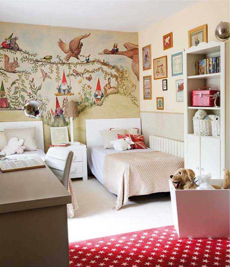 Детская комната для двух девочек разного возраста, фото