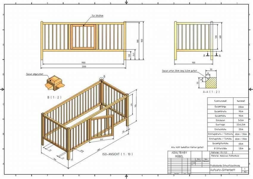 Размеры детской кровати: двухъярусной, домика, трансформера, с ящиком, бортиком – своими руками, стандартные, чертежи, схемы, для новорожденного