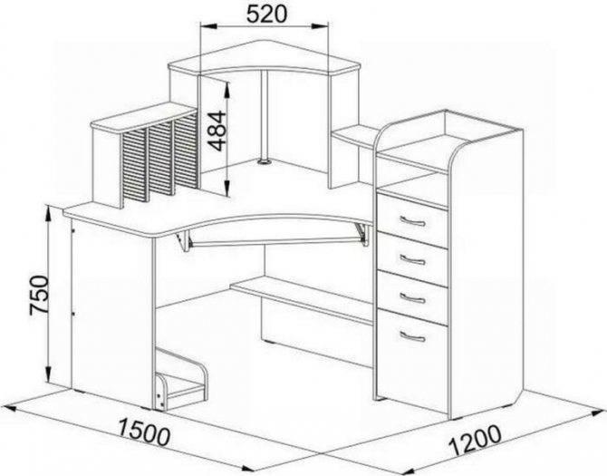 Стол для первоклассника для дома: высота, ширина и стандартные размеры парты | детская | vpolozhenii.com