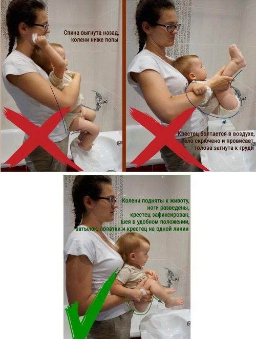 Зачем держать новорожденного столбиком и как правильно это делать?