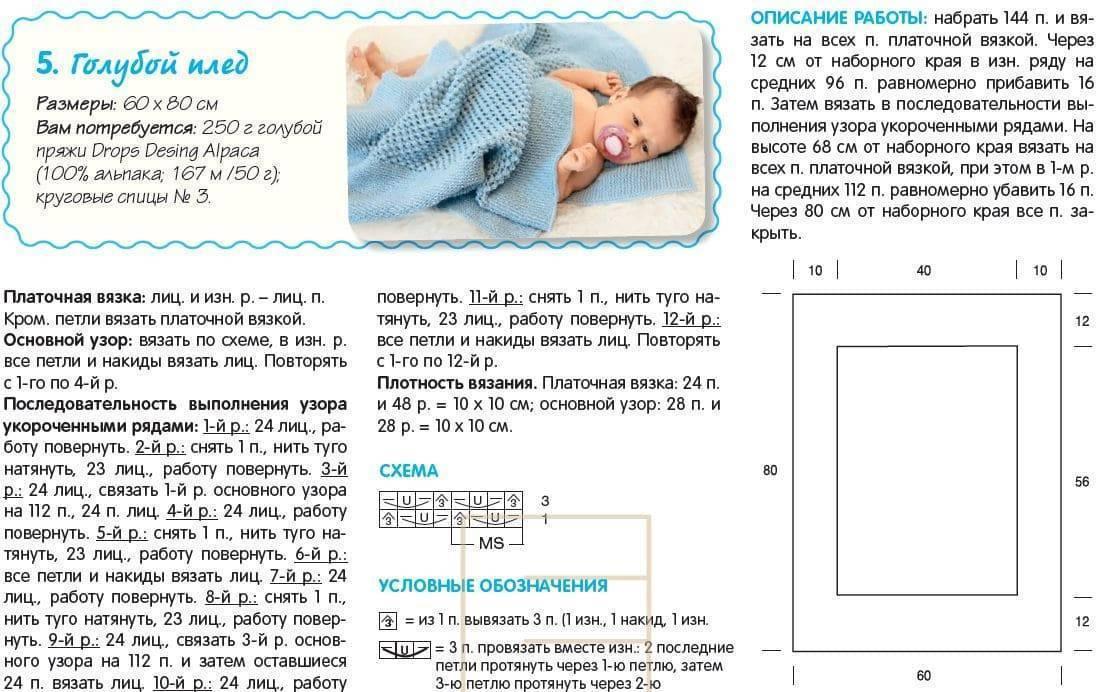 Пледы для новорожденных малышей - вязание - страна мам