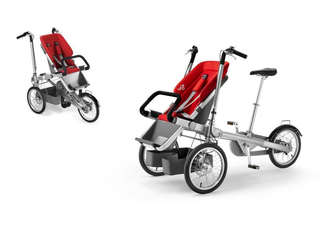 Коляска велосипед-трансформер: обзор детской модели для ребенка и взрослой – для мамы