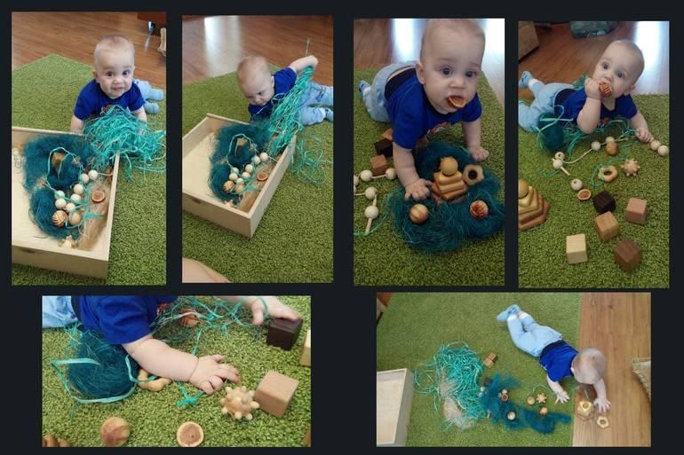 Делаем сенсорную коробку своими руками - игра для детей 3 лет