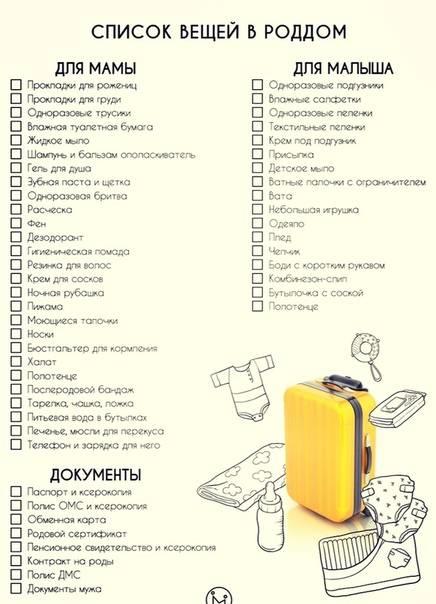 Сумка в роддом - список вещей 2021 (лето): что взять с собой в роддом, основные документы