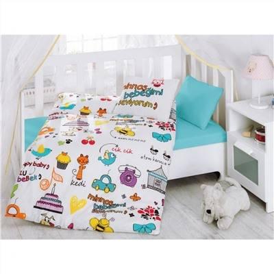 Размеры и составляющие комплекта постельного белья для новорожденных в кроватку
