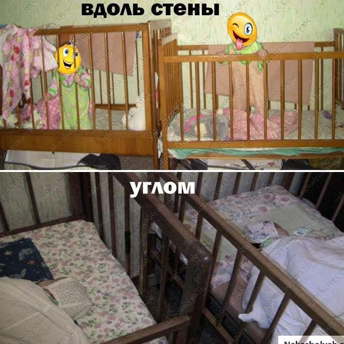 Стандартные размеры детской кроватки для новорожденных и тонкости подбора спального белья