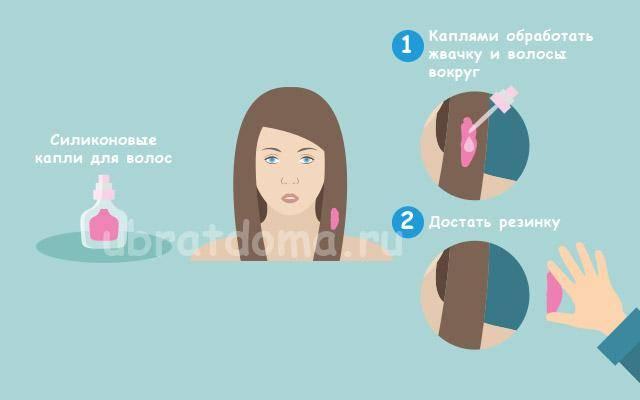 Липкая проблема: как удалить жвачку с волос, одежды и мебели