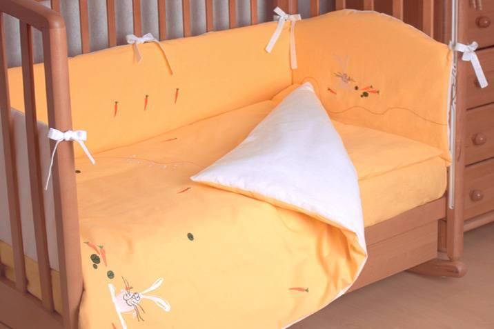 Комплект детского постельного белья в кроватку размеры