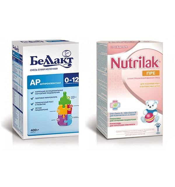 Антирефлюксные смеси для новорожденных - правила кормления