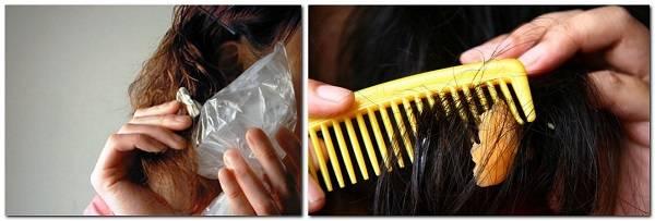 Как убрать жвачку с волос: различные способы удаления жевательной резинки с головы + фото и видео