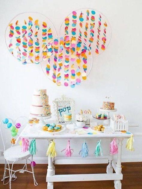 13 идей, как красиво украсить стол на детский день рождения своими руками