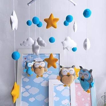Мобили для кроватки новорожденного своими руками из фетра: выкройки и трафареты