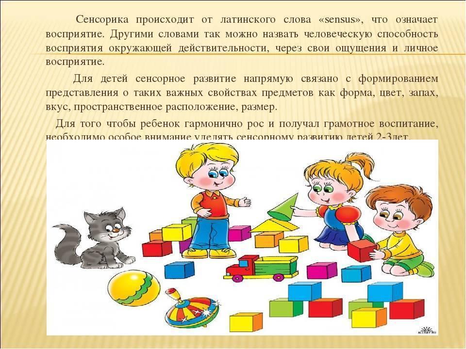 Сенсорное развитие детей младшего дошкольного возраста через дидактические игры