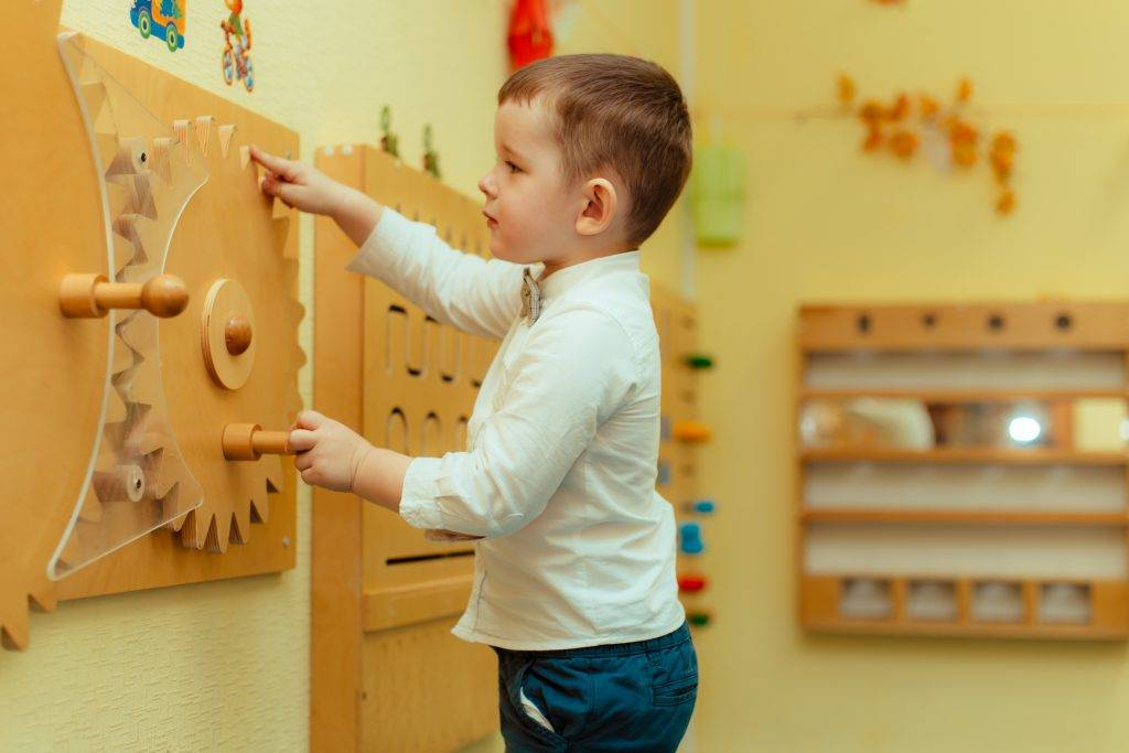 Развитие ребенка 1-2 лет в группах по системе монтессори