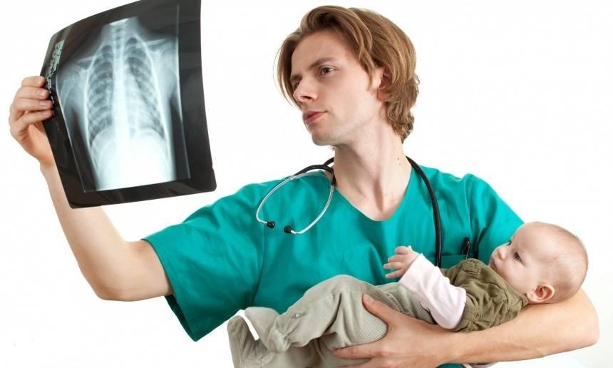 Каким образом делают рентгенографию грудной клетки маленькому ребенку?