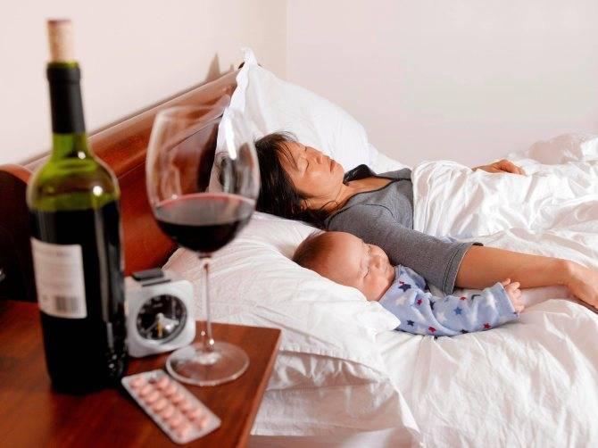 Грозит ли малышу опасность, если пить белое вино при грудном вскармливании