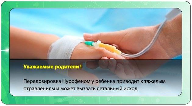 Передозировка нурофеном: симптомы у ребенка и взрослого