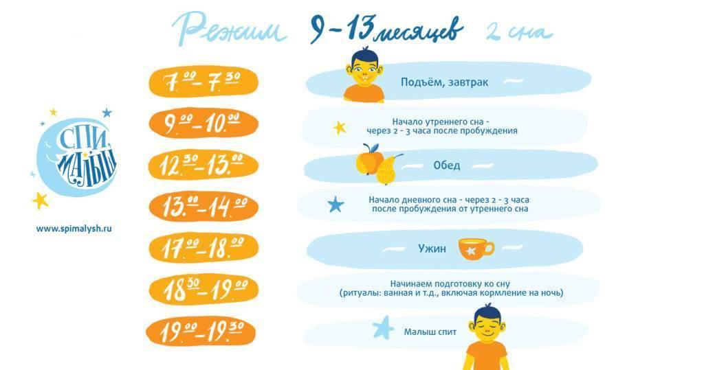 Режим дня ребенка в 2 месяца на грудном и искусственном вскармливании
