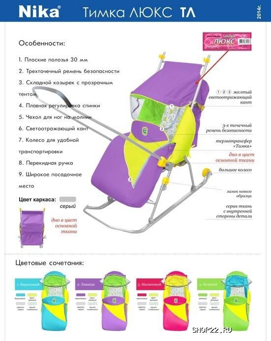 Лучшие детские санки-коляски с колесами на 2021 год
