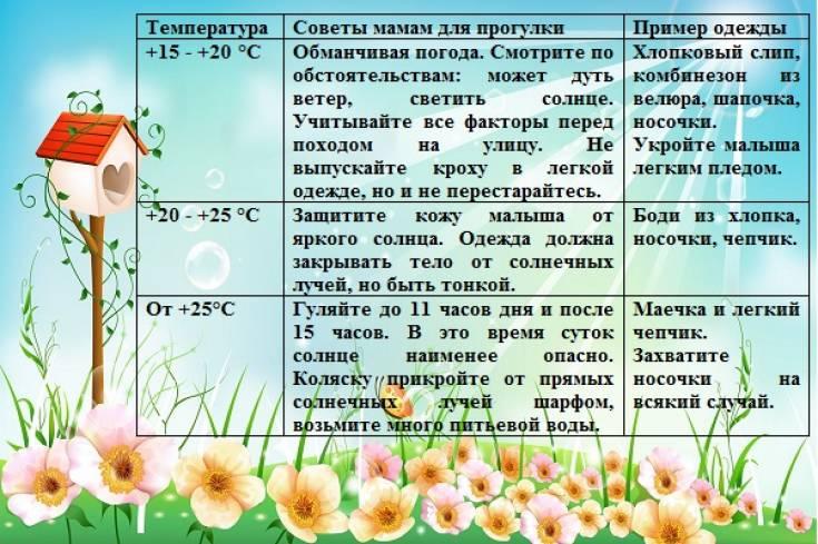 Как одеть малыша по погоде: одеваем ребенка на улицу летом, осенью, зимой и весной