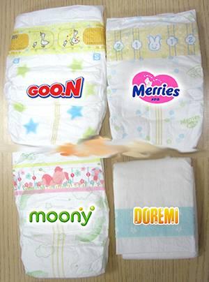 Обзор японских подгузников: moony, merries, goon