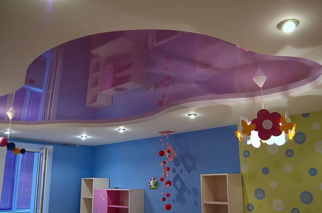 Потолки из гипсокартона: фото, виды, дизайн, цвет, подсветка, декор, фигурные, многоуровневые конструкции