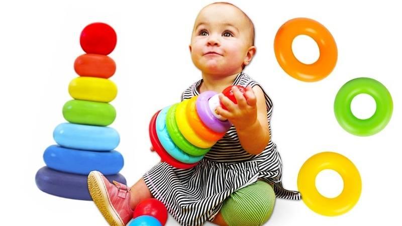Как научить ребенка собирать пирамидку из колец - развиваемся играючи