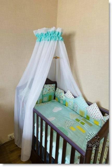 Балдахин на детскую кроватку своими руками – выкройка и мастер-класс