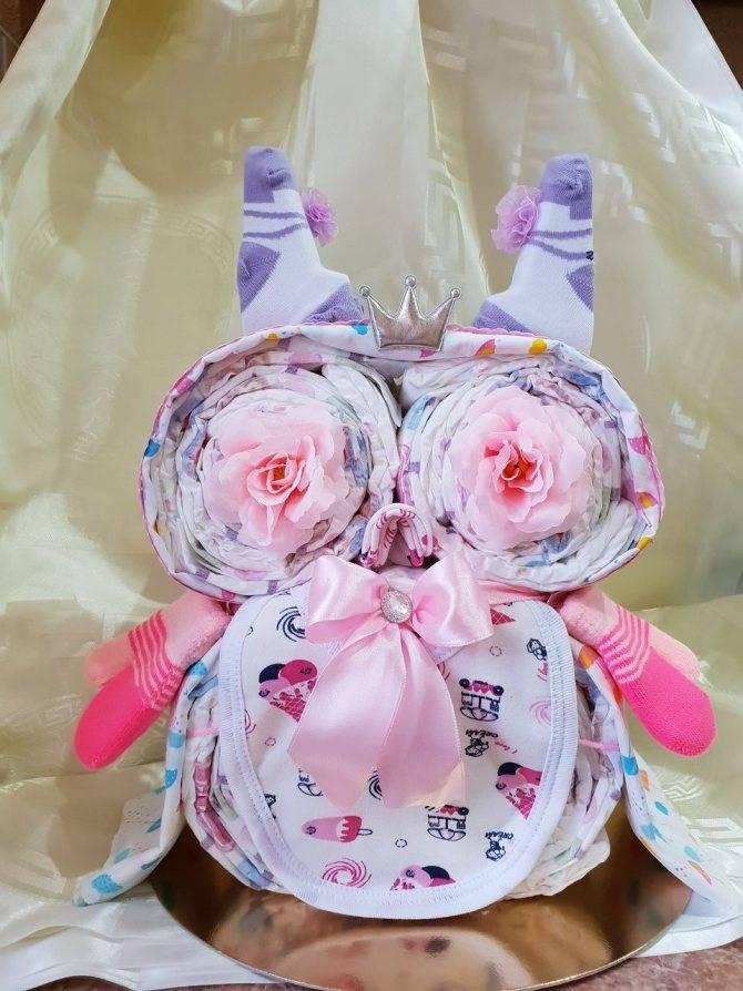 Подарки из памперсов своими руками: мастер класс по созданию красивых и практичных поделок для новорожденных