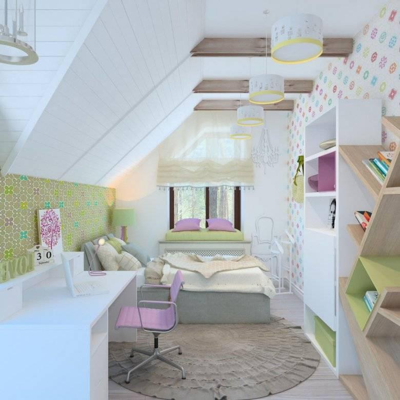 Детская мансардная комната для ребенка: фото, идеи, обустройство