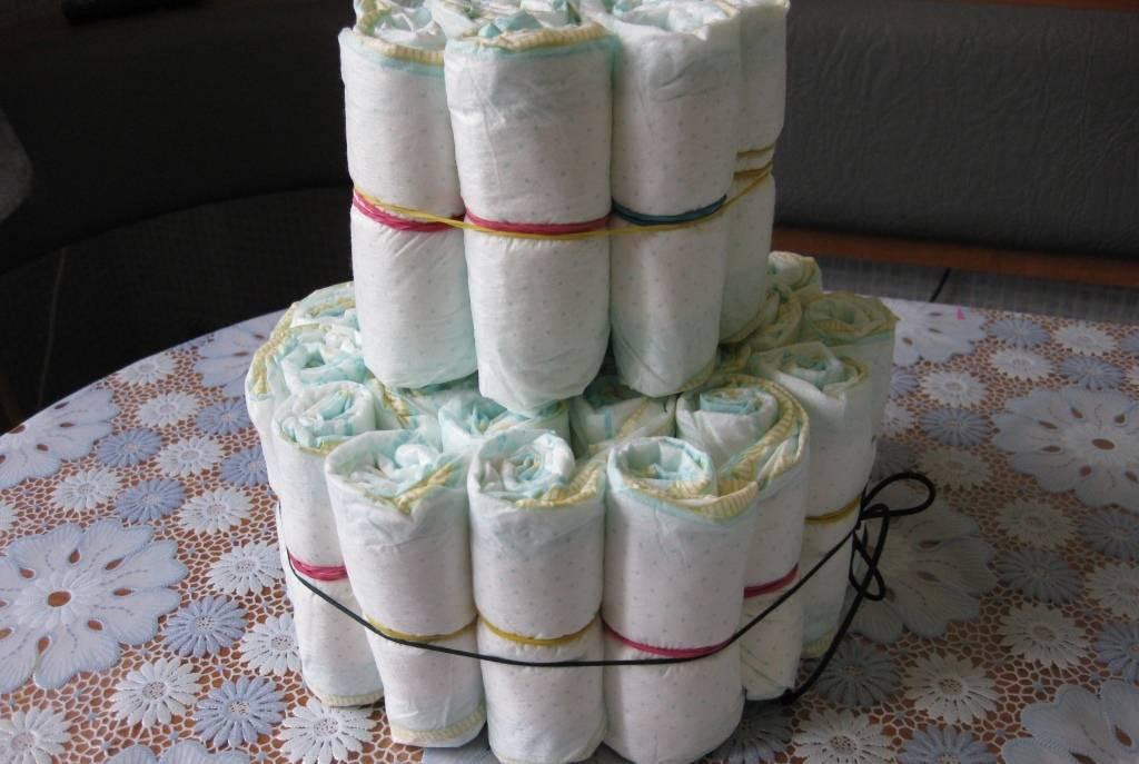 Торт из памперсов своими руками - пошаговые инструкции с фото