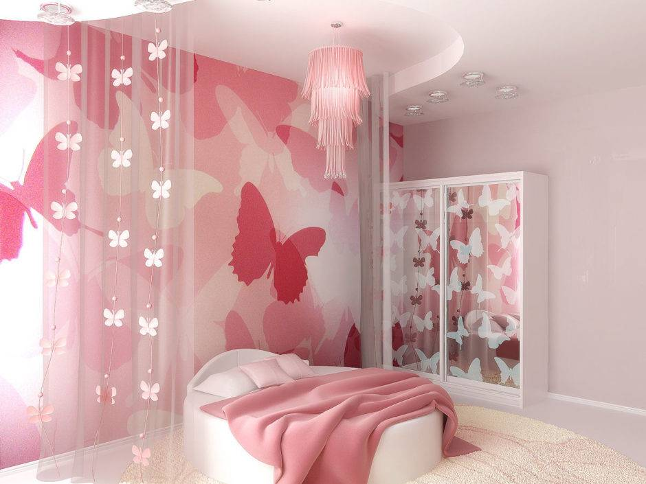 Обои в детскую комнату для девочек: виды, цвет, дизайн, комбинирование, 68 фото