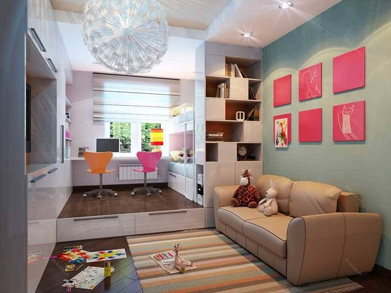 Гостиная и детская в одной комнате - фото идеального дизайна для молодой семьи