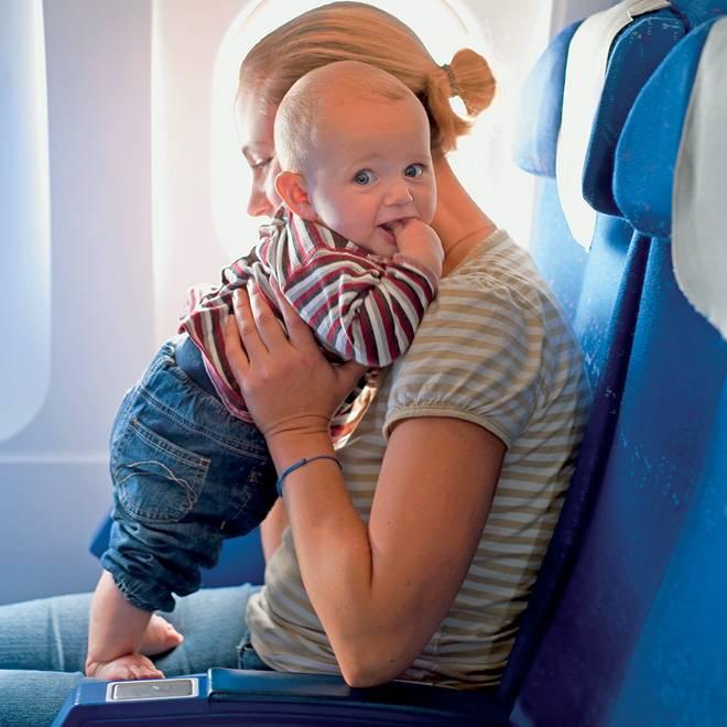 С какого возраста можно летать на самолете новорожденному ребенку