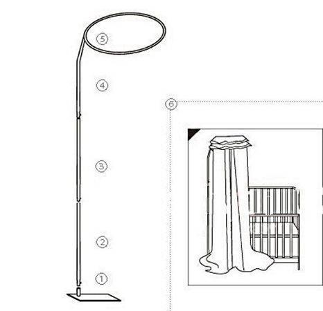 Как повесить балдахин на держатель над детской кроваткой
