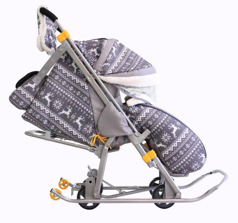 Санки-коляска для новорожденных: какими бывают и как выбрать для грудничка от 3 месяцев и старше, а также обзор моделей вездеходов с лыжами и колесами