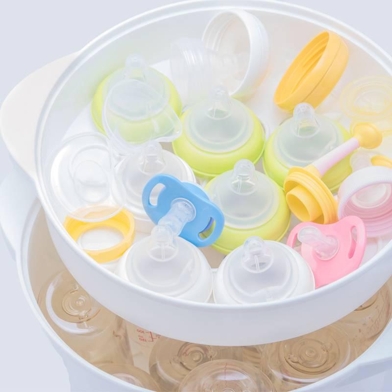 Как производится стерилизация детских бутылочек в пароварке