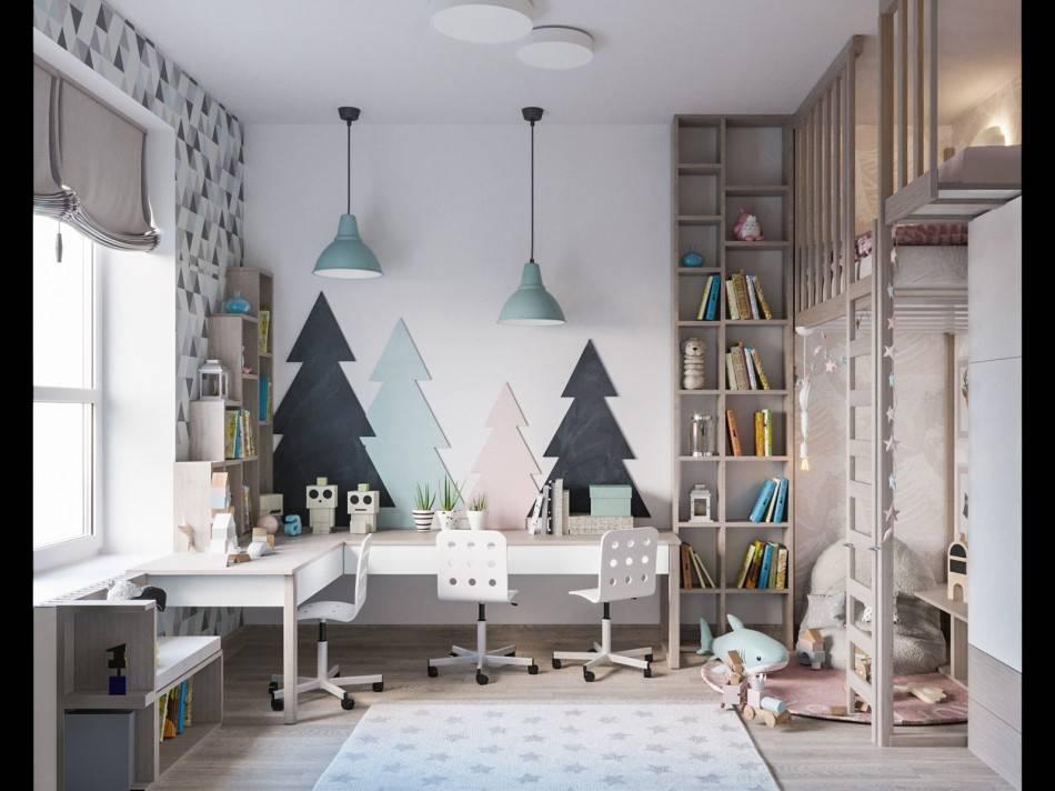 Оформление детской комнаты для девочки или мальчика в скандинавском стиле