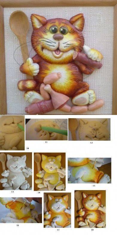 Поделки из солёного теста для детей 5-7 лет пошагово с фото