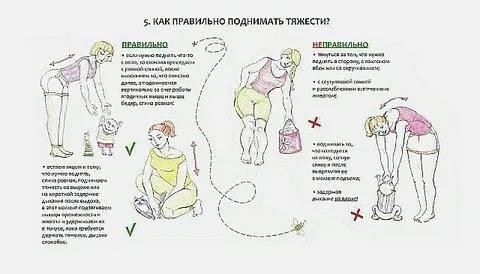 Чем опасно поднятие тяжестей во время беременности?