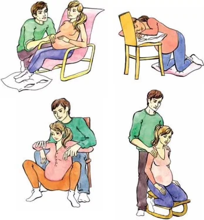 Родовые схватки. первый период родов