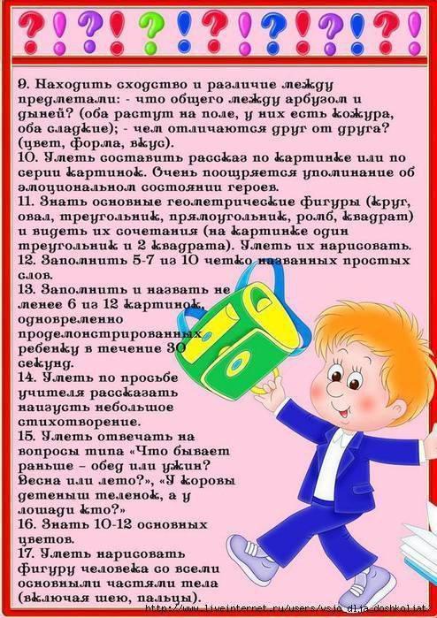 Что должен знать ребенок в 7 лет перед школой при поступлении в 1 класс? | мыслим и говорим | vpolozhenii.com