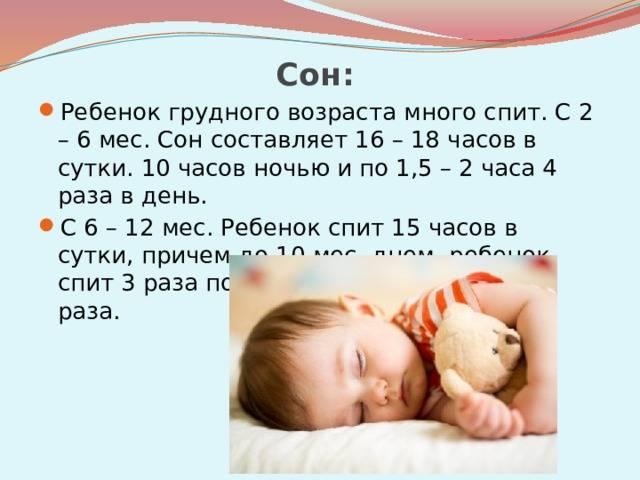 Второй месяц жизни новорожденного сон