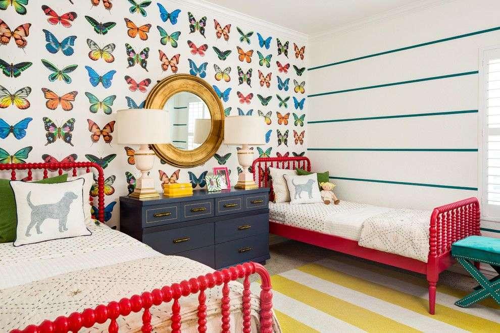 Комбинированные обои в спальню (95 фото): интерьер с обоями двух видов, идеи комбинирования в дизайне 2021, подборка интересных вариантов