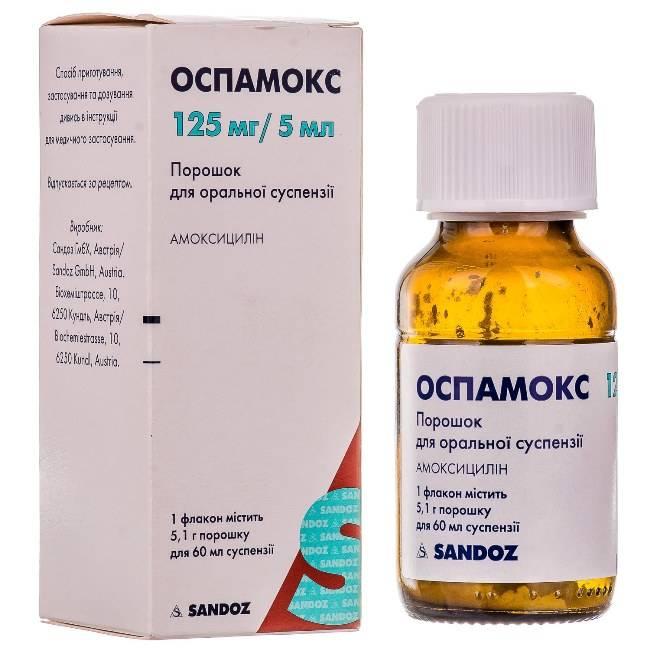 Оспамокс порошок для приготовления суспензии для приема внутрь 250 мг/5 мл 6,6 г   (sandoz [сандоз]) - купить в аптеке по цене 63 руб., инструкция по применению, описание, аналоги