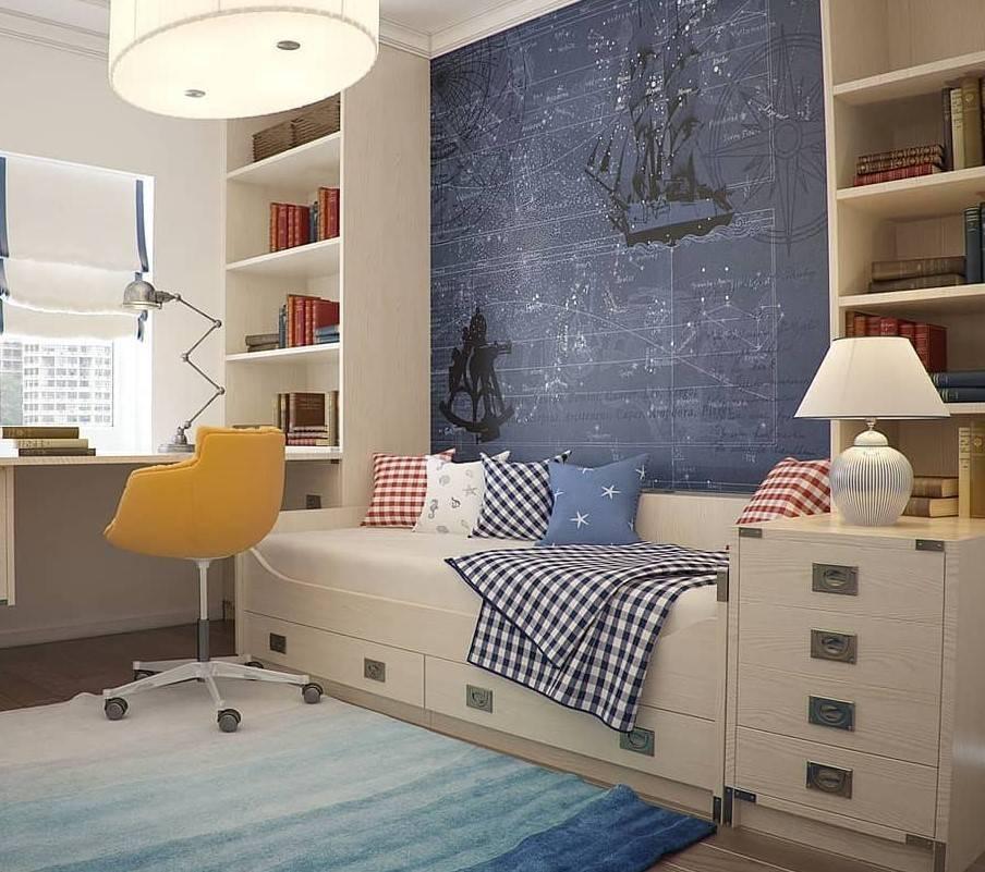 Удобная расстановка мебели в детской комнате