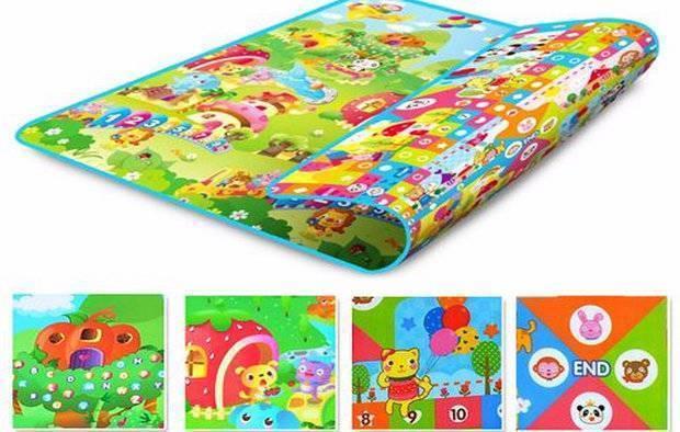 Какие бывают развивающие коврики для младенцев