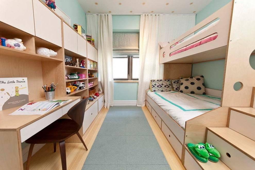 Дизайн детской комнаты 12 кв. м. – стили, оттенки, зонирование